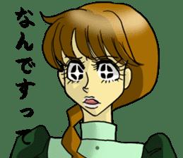Japanese traditional girls' comic sticker #3481301