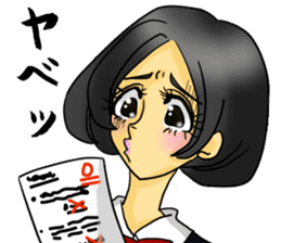 Japanese traditional girls' comic sticker #3481302