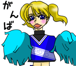 Japanese traditional girls' comic sticker #3481304