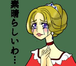 Japanese traditional girls' comic sticker #3481308