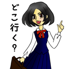 Japanese traditional girls' comic sticker #3481310