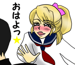 Japanese traditional girls' comic sticker #3481311