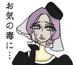 Japanese traditional girls' comic sticker #3481312
