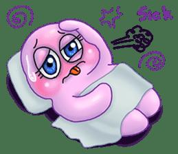 MoongMing, The cute pink ameba sticker #3504415
