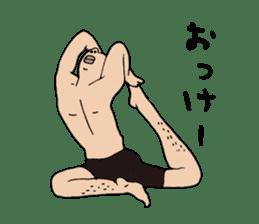 Yoga lovers Yoga man yoga boys Vol.03 sticker #3509422