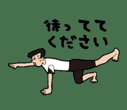 Yoga lovers Yoga man yoga boys Vol.03 sticker #3509431