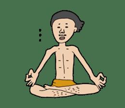 Yoga lovers Yoga man yoga boys Vol.03 sticker #3509445