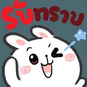 สติ๊กเกอร์ไลน์ N9: กระต่ายเชียร์ ส่งความสุข