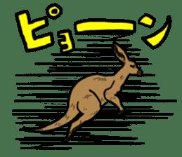 kangaroo's life sticker #3522309