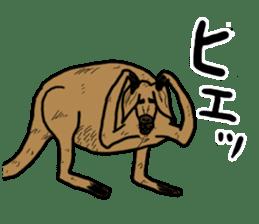 kangaroo's life sticker #3522315