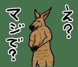 kangaroo's life sticker #3522329