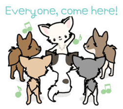 Kawaii Chihuahua 3 (English) sticker #3523328