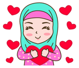 Hijab Girl sticker #3539356