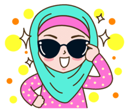 Hijab Girl sticker #3539360