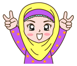 Hijab Girl sticker #3539364