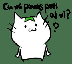 Constructed+ Esperanto Cat +language sticker #3541162