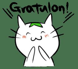 Constructed+ Esperanto Cat +language sticker #3541164
