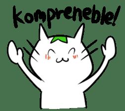 Constructed+ Esperanto Cat +language sticker #3541177