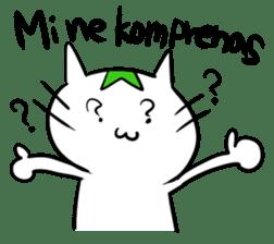 Constructed+ Esperanto Cat +language sticker #3541178