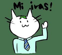 Constructed+ Esperanto Cat +language sticker #3541188
