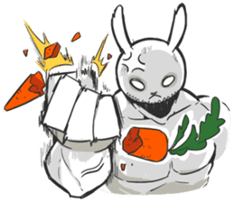 Rabbo the Muscle Rabbit sticker #3542567