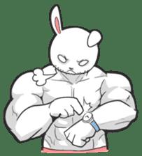 Rabbo the Muscle Rabbit sticker #3542573