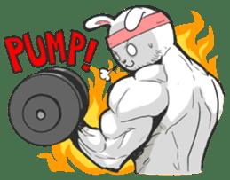 Rabbo the Muscle Rabbit sticker #3542584