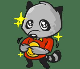 Rubi the Raccoon sticker #3547280