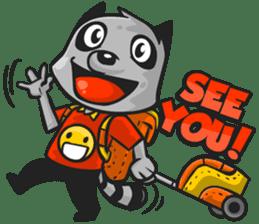 Rubi the Raccoon sticker #3547286