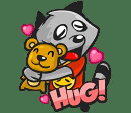 Rubi the Raccoon sticker #3547292