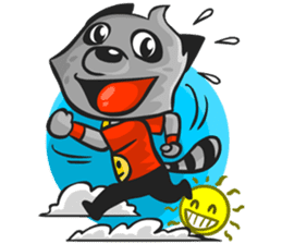 Rubi the Raccoon sticker #3547293