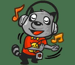 Rubi the Raccoon sticker #3547294