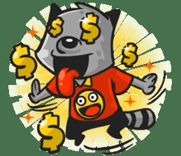 Rubi the Raccoon sticker #3547298