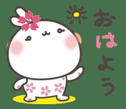 sakura the rabbit japanese sticker #3552314