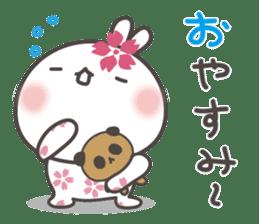 sakura the rabbit japanese sticker #3552315