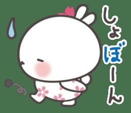 sakura the rabbit japanese sticker #3552317