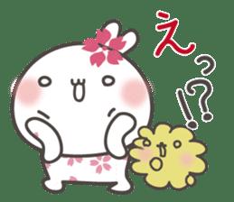 sakura the rabbit japanese sticker #3552326