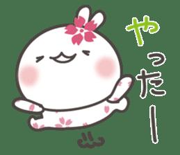 sakura the rabbit japanese sticker #3552332