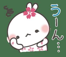 sakura the rabbit japanese sticker #3552333