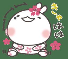 sakura the rabbit japanese sticker #3552336