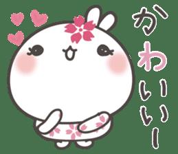 sakura the rabbit japanese sticker #3552337