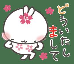 sakura the rabbit japanese sticker #3552339