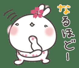 sakura the rabbit japanese sticker #3552340