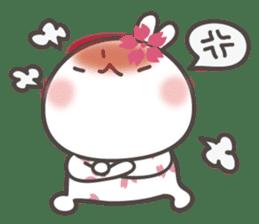 sakura the rabbit japanese sticker #3552341