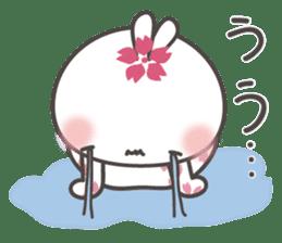 sakura the rabbit japanese sticker #3552342
