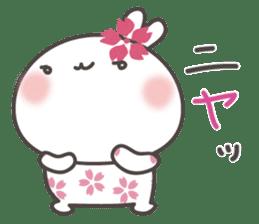 sakura the rabbit japanese sticker #3552344