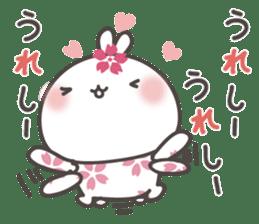 sakura the rabbit japanese sticker #3552348
