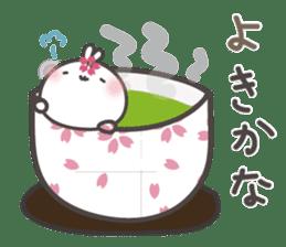 sakura the rabbit japanese sticker #3552351