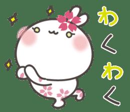 sakura the rabbit japanese sticker #3552352