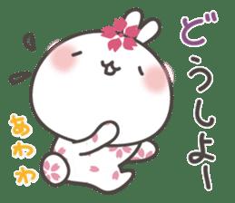 sakura the rabbit japanese sticker #3552353